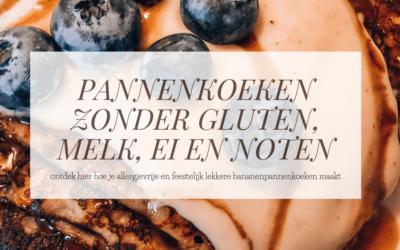 ALLERGIE | Pannenkoeken zonder gluten, melk, ei en noten